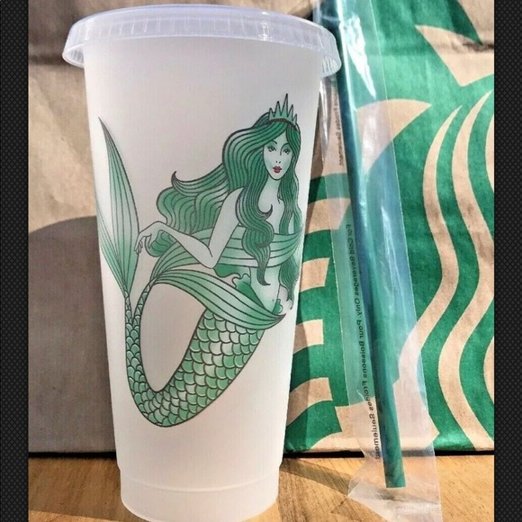 14f54ec464a Starbucks Accessories | Siren Mermaid Reusable Plastic Cold Cup ...